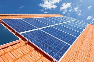 Telhado com energia solar