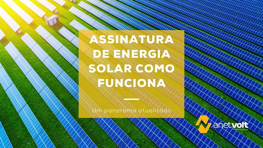 Assinatura de energia solar